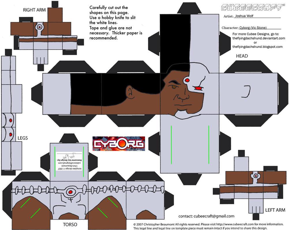 DC SH19: Cyborg Cubee by TheFlyingDachshund