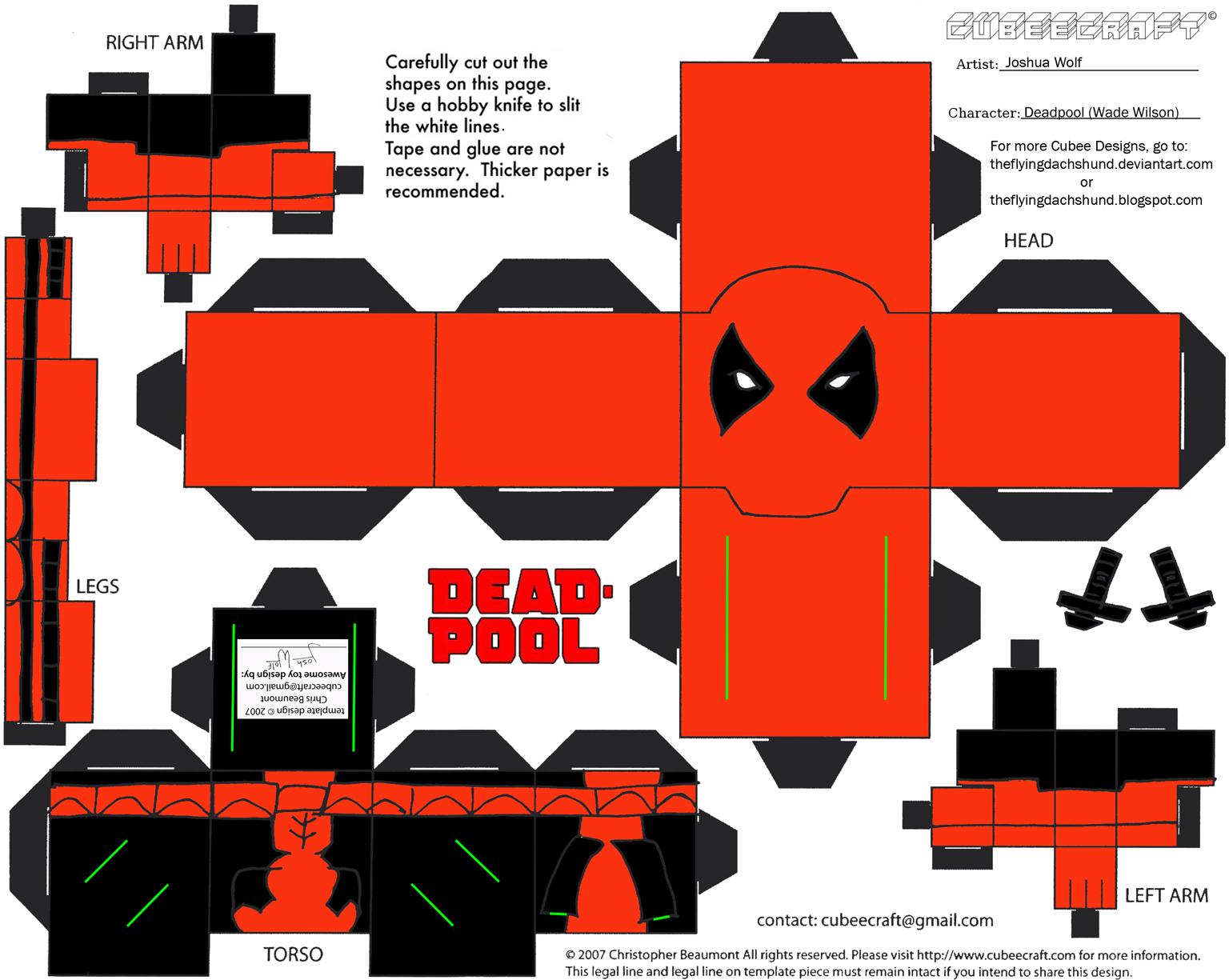 Marvel10: Deadpool Cubee