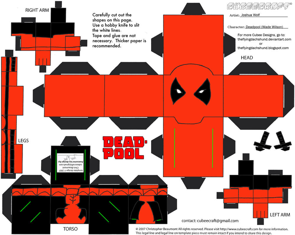 Marvel10 Deadpool Cubee By Theflyingdachshund On Deviantart
