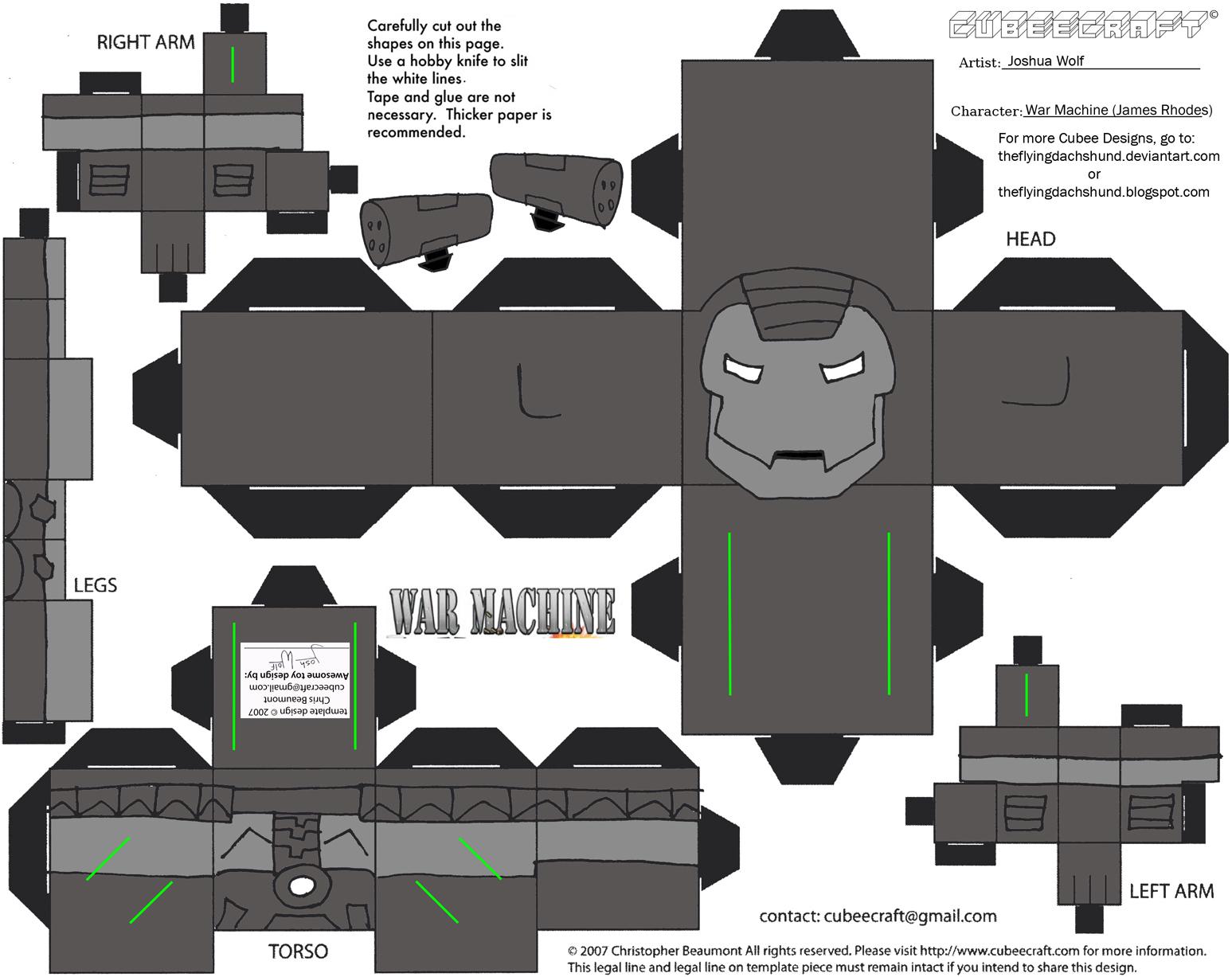 Marvel11: War Machine Cubee