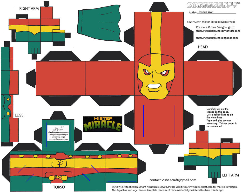 DC SH22: Mister Miracle Cubee by TheFlyingDachshund