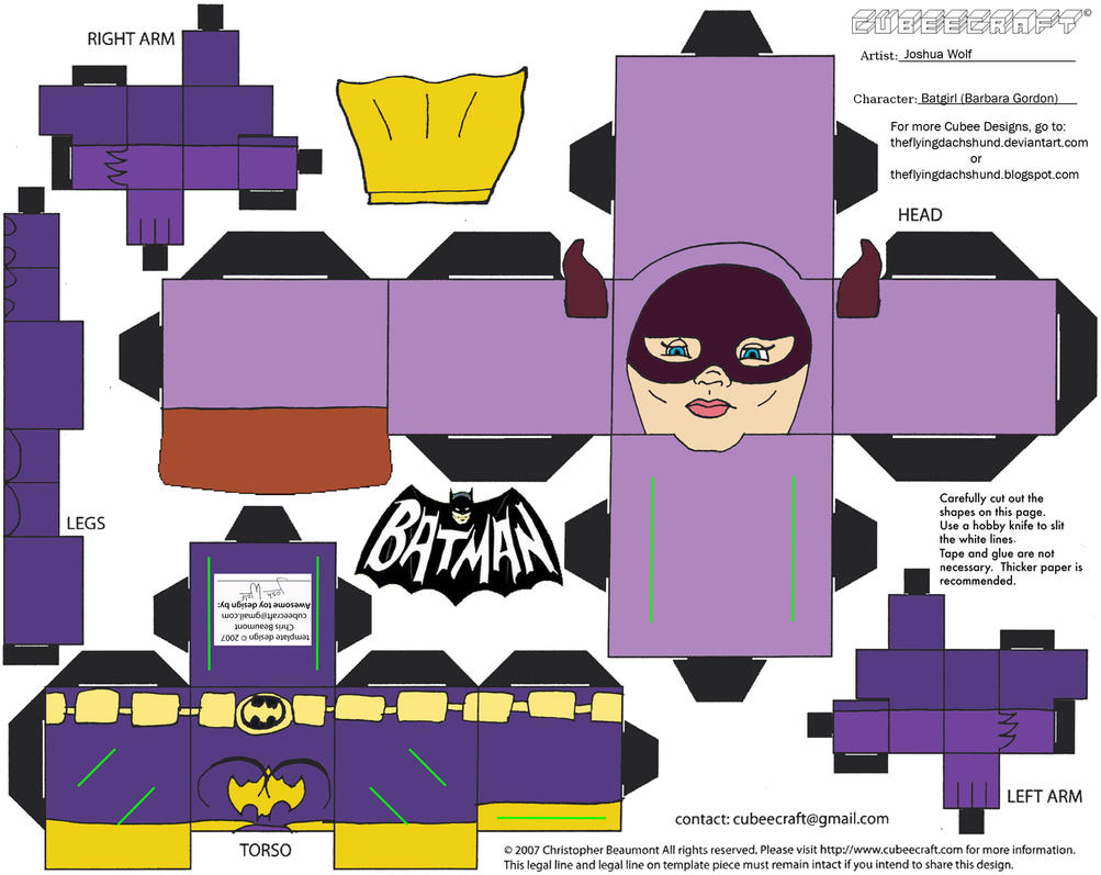 60sBat1: Batgirl Cubee by TheFlyingDachshund