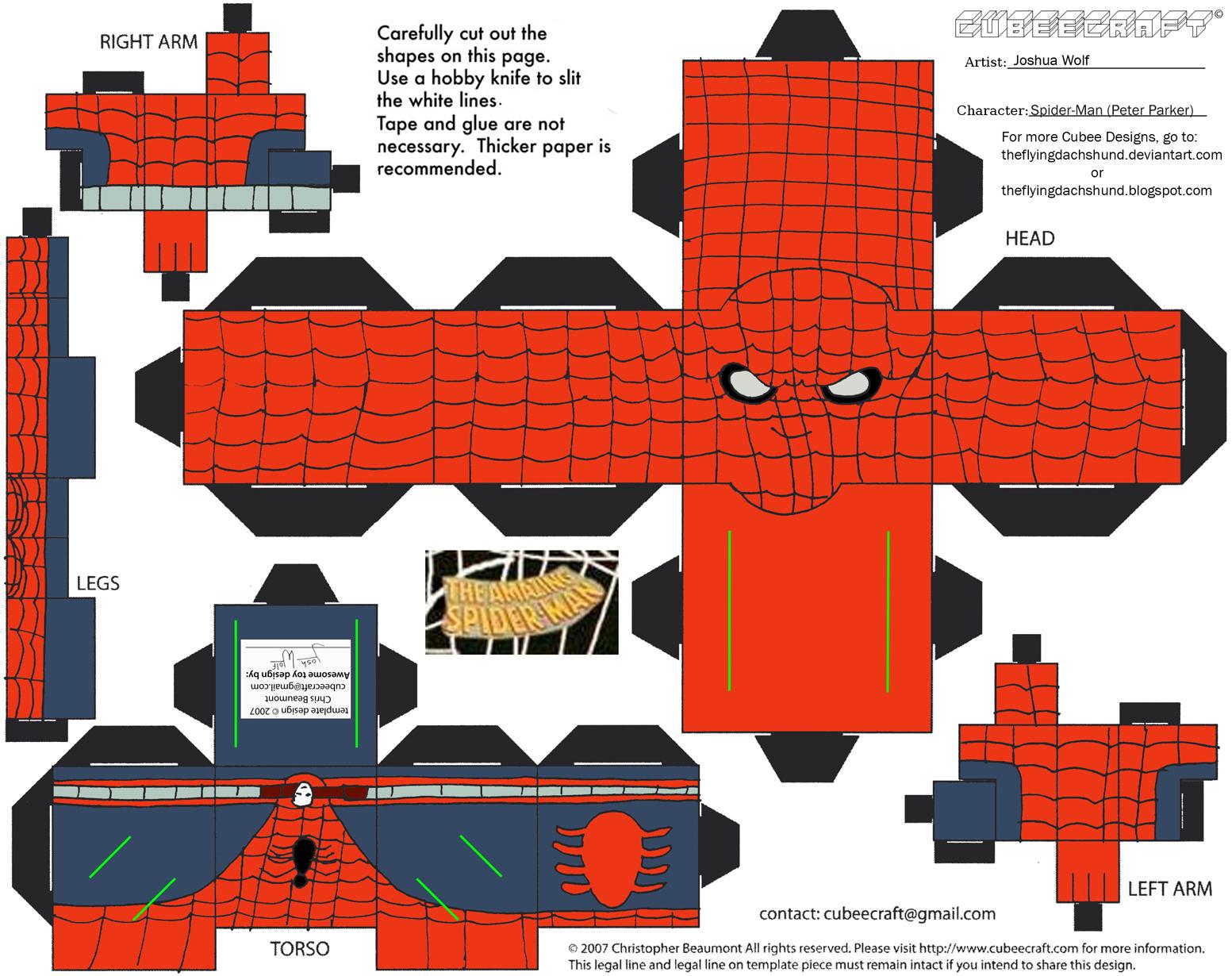 Retro3 Spider Man Cubee By Theflyingdachshund On Deviantart
