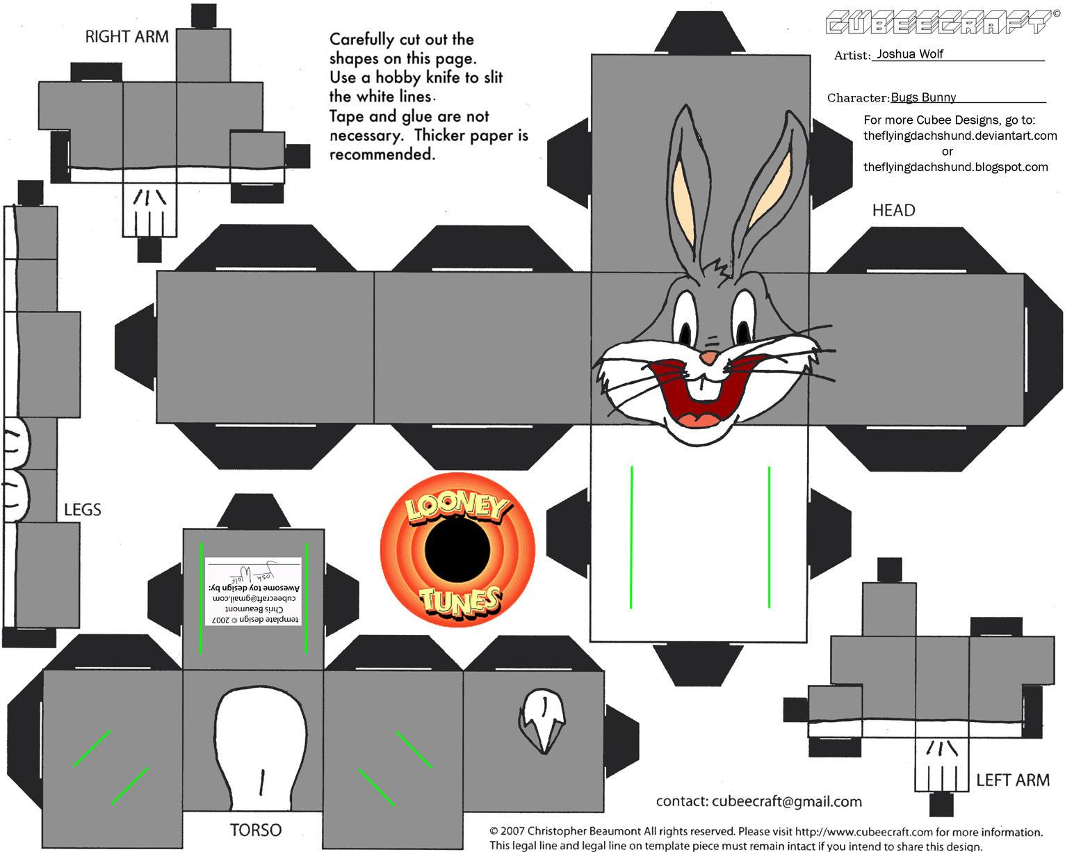LT1: Bugs Bunny Cubee by TheFlyingDachshund
