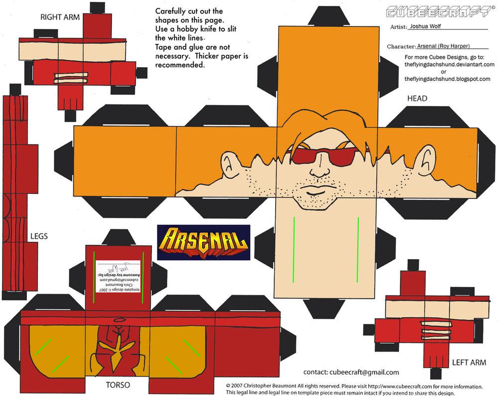DC SH28: Arsenal Cubee by TheFlyingDachshund