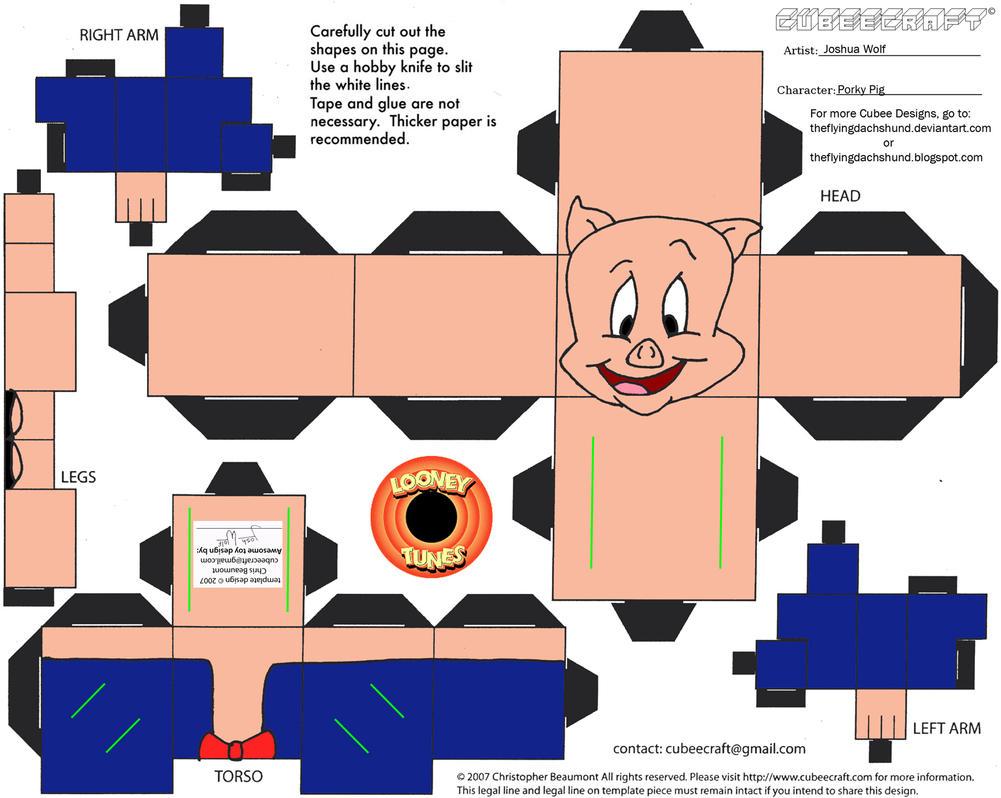 LT3: Porky Pig Cubee by TheFlyingDachshund