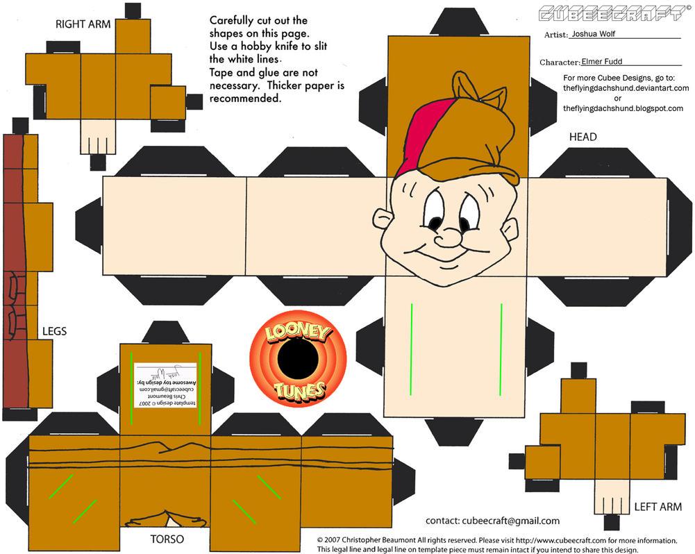 LT6: Elmer Fudd Cubee by TheFlyingDachshund