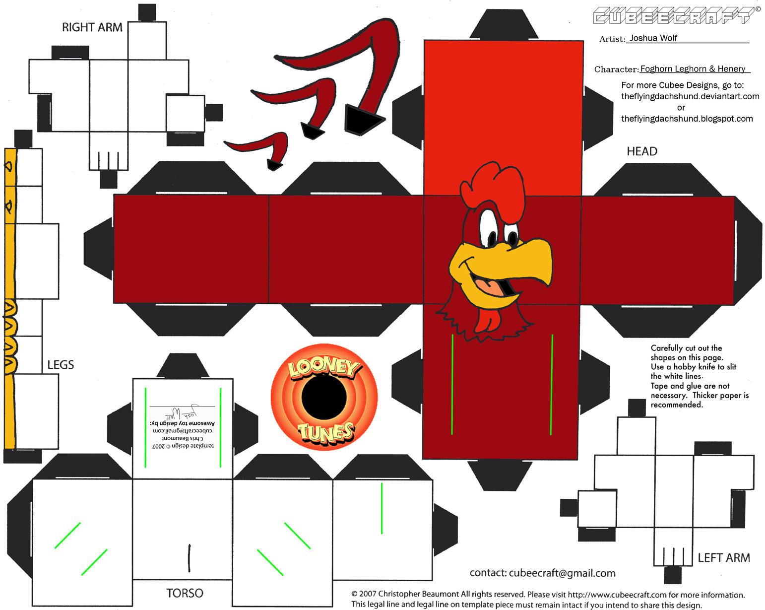 LT6: Foghorn Leghorn/Henery Hawk Cubees by TheFlyingDachshund