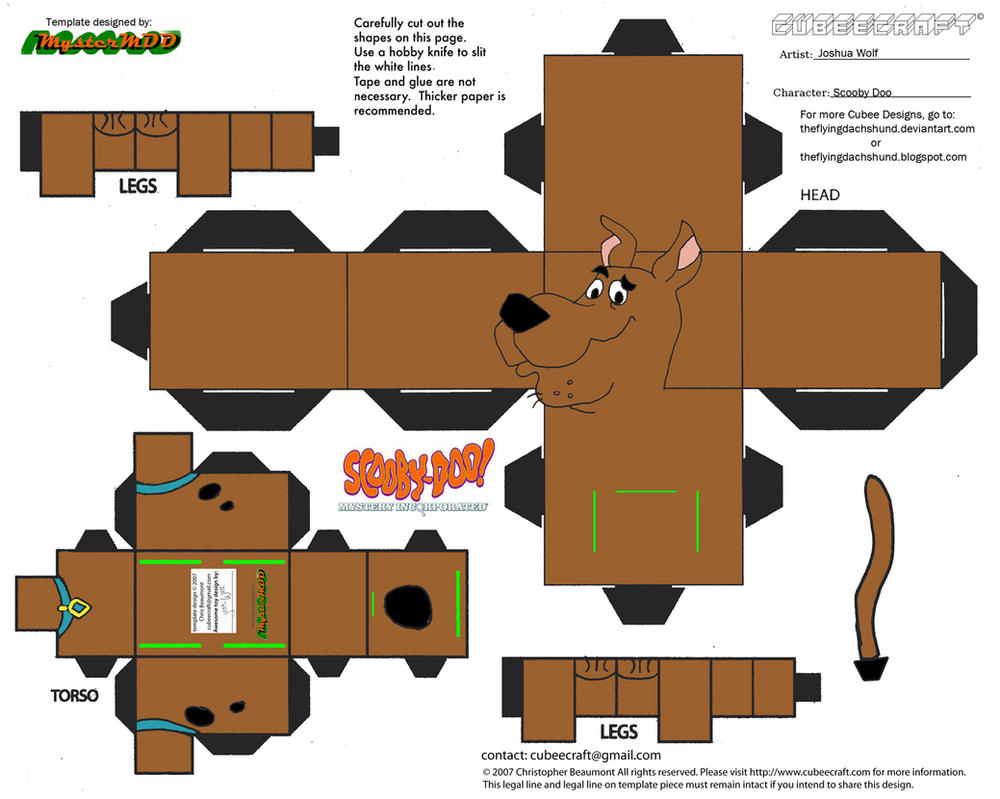 SD1: Scooby Doo Cubee by TheFlyingDachshund