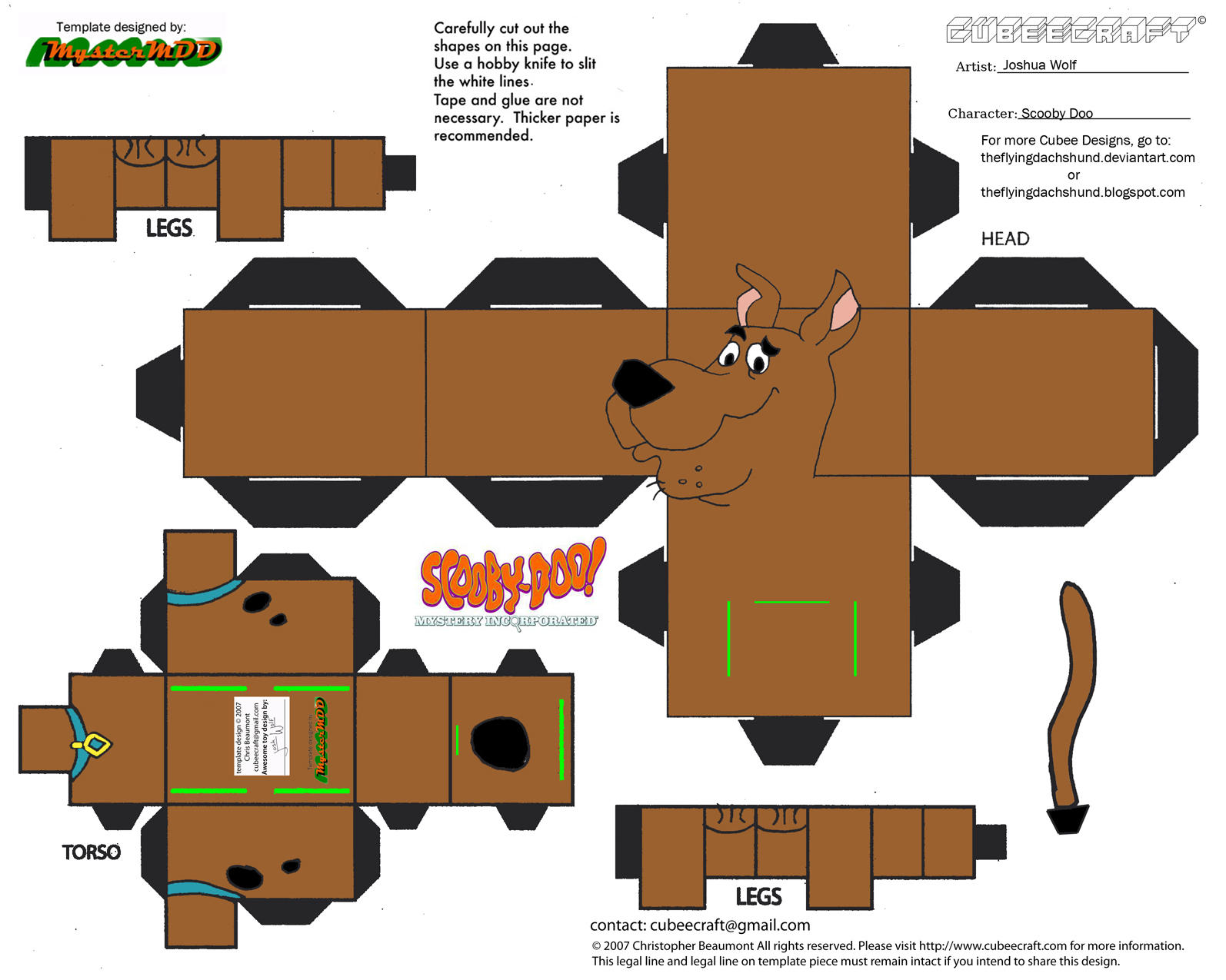Sd1 scooby doo cubee by theflyingdachshund on deviantart for Scooby doo cake template