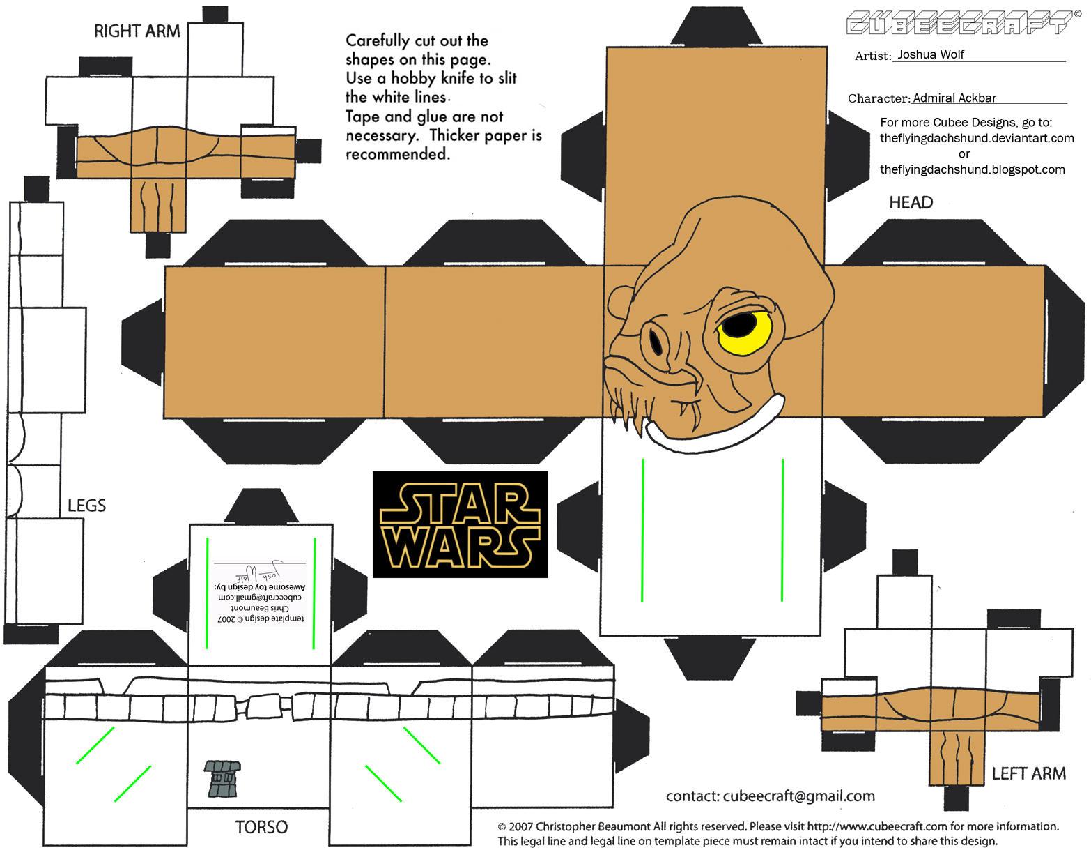 SW7: Admiral Ackbar Cubee by TheFlyingDachshund