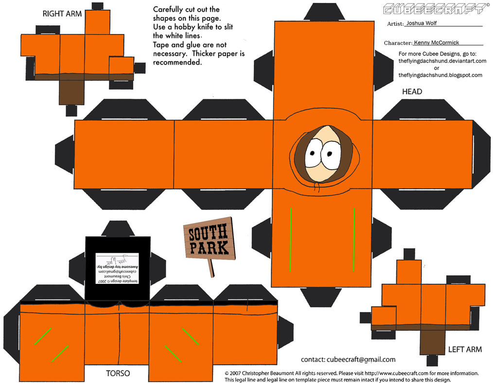 SP1: Kenny McCormick Cubee by TheFlyingDachshund