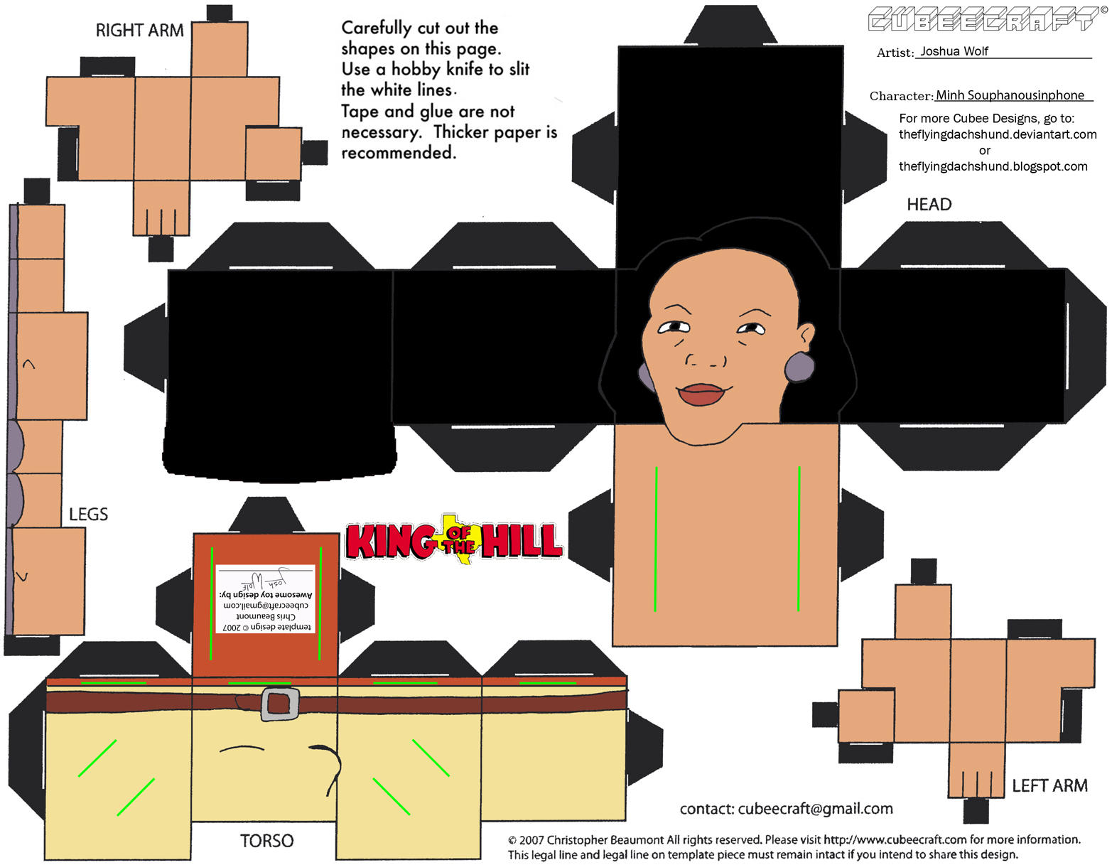 Patterns papercraft cubee minh souphanousinphone from king of the hill