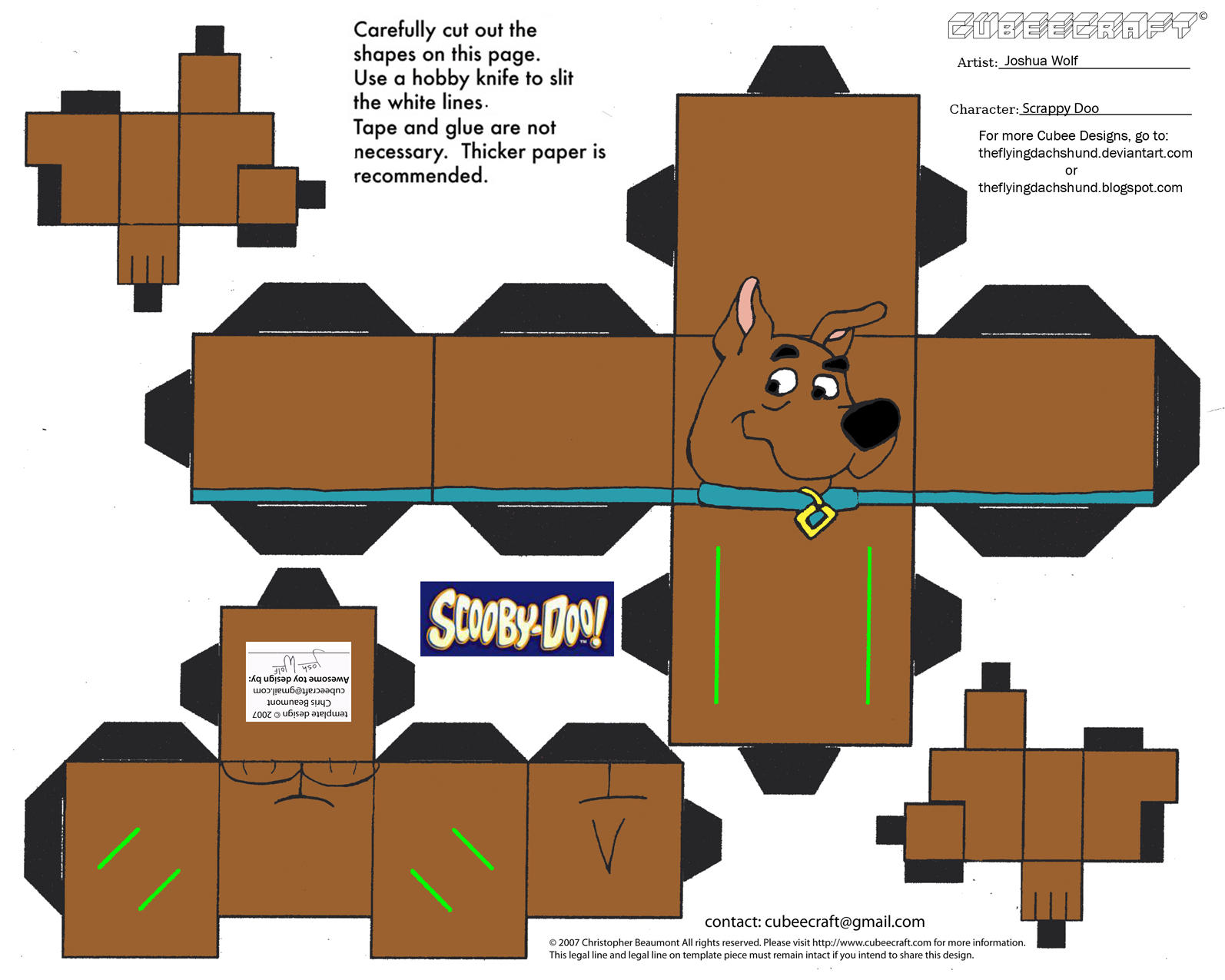 SD2: Scrappy Doo Cubee by TheFlyingDachshund