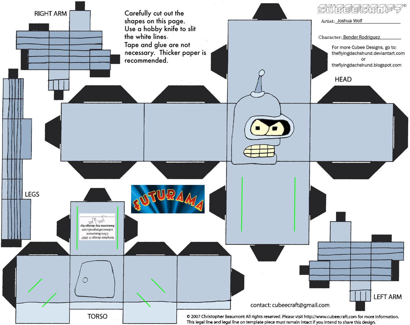 Fut1: Bender Rodriguez Cubee by TheFlyingDachshund