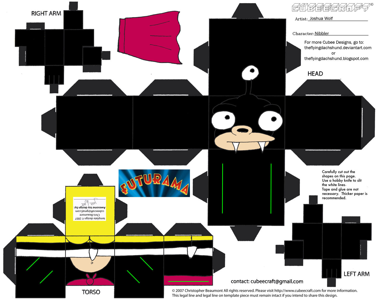 Fut2: Nibbler Cubee by TheFlyingDachshund