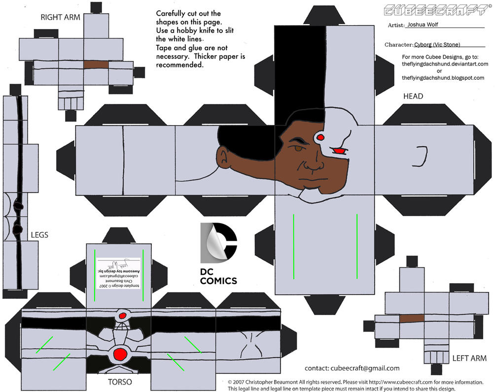 DCNU2 Cyborg Cubee 312445820 on Shapes Books