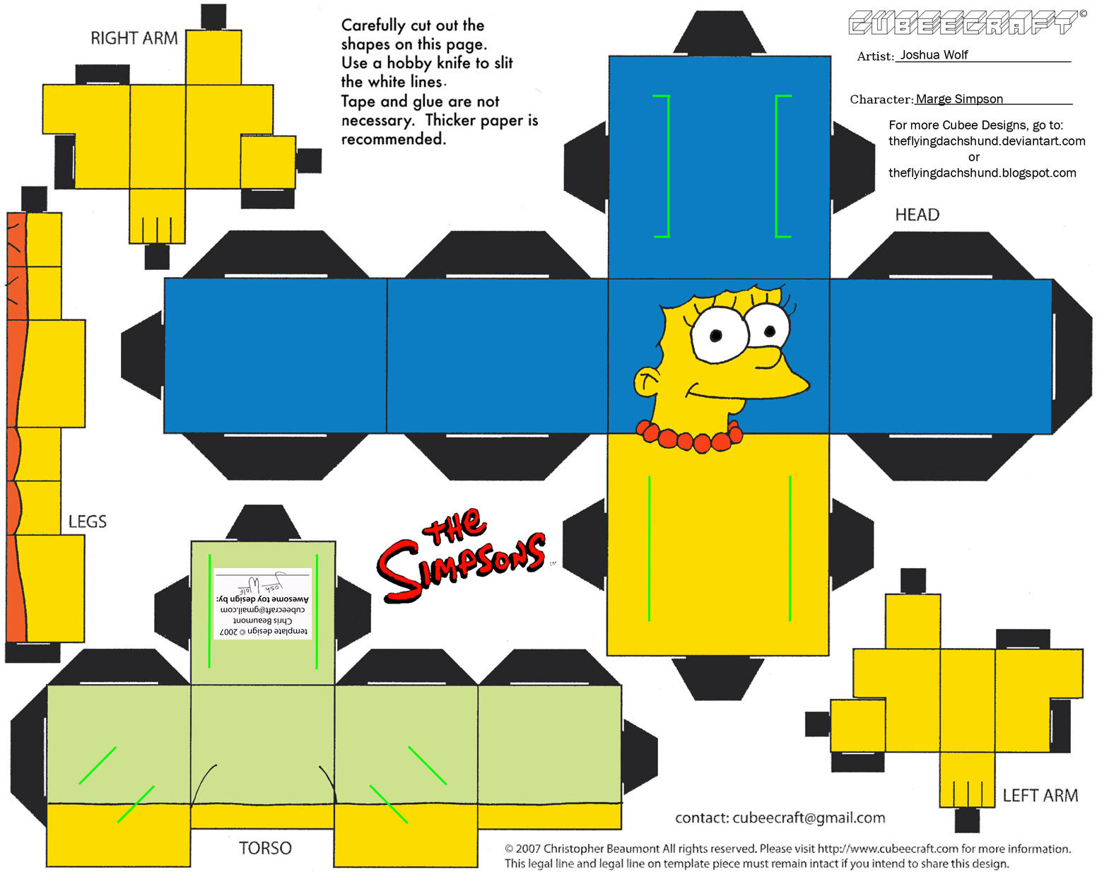 Simpsons1: Marge Simpson Cubee by TheFlyingDachshund