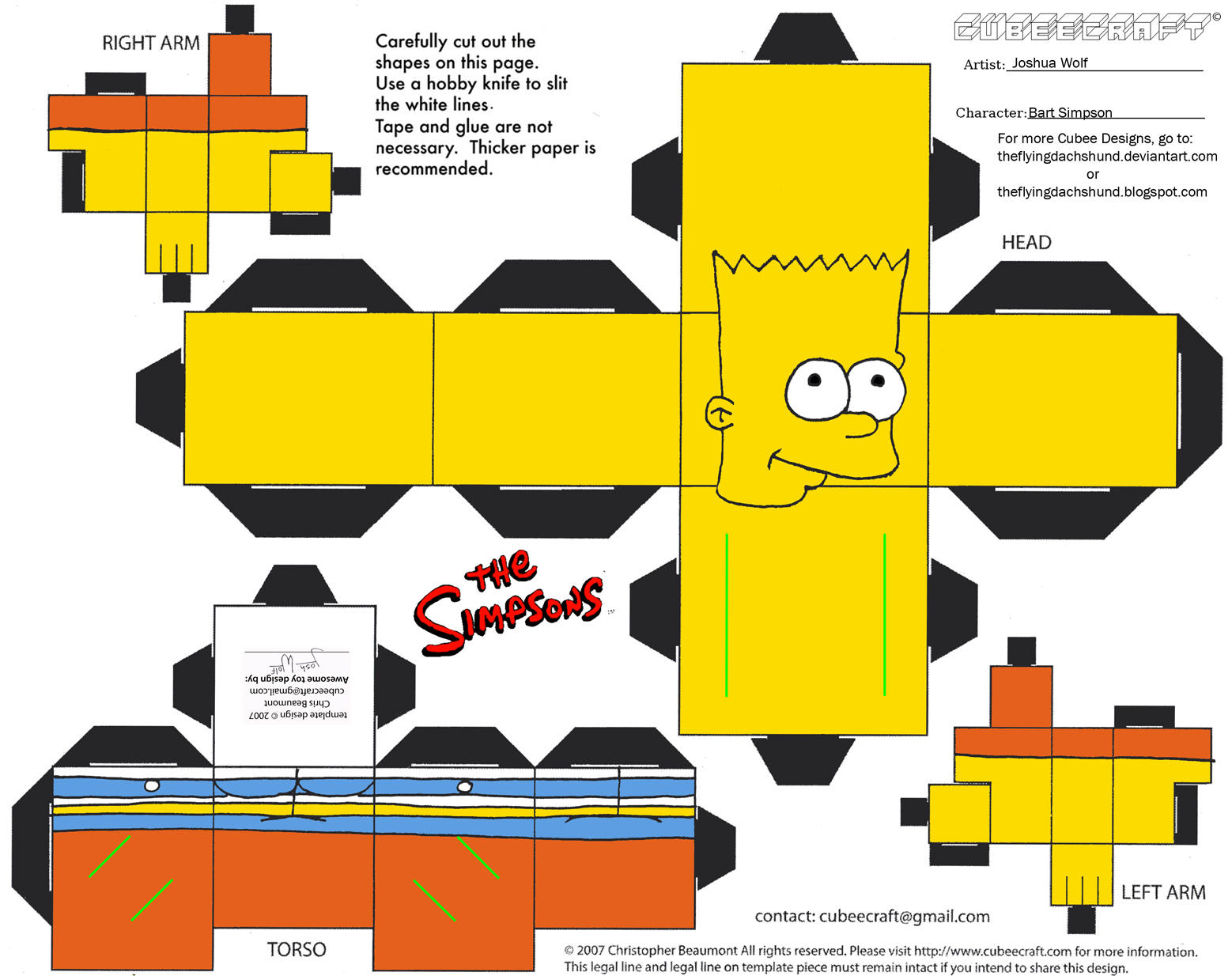 Simpsons1: Bart Simpson Cubee by TheFlyingDachshund