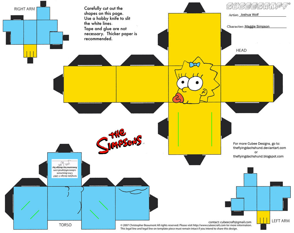 Simpsons1: Maggie Simpson Cubee by TheFlyingDachshund