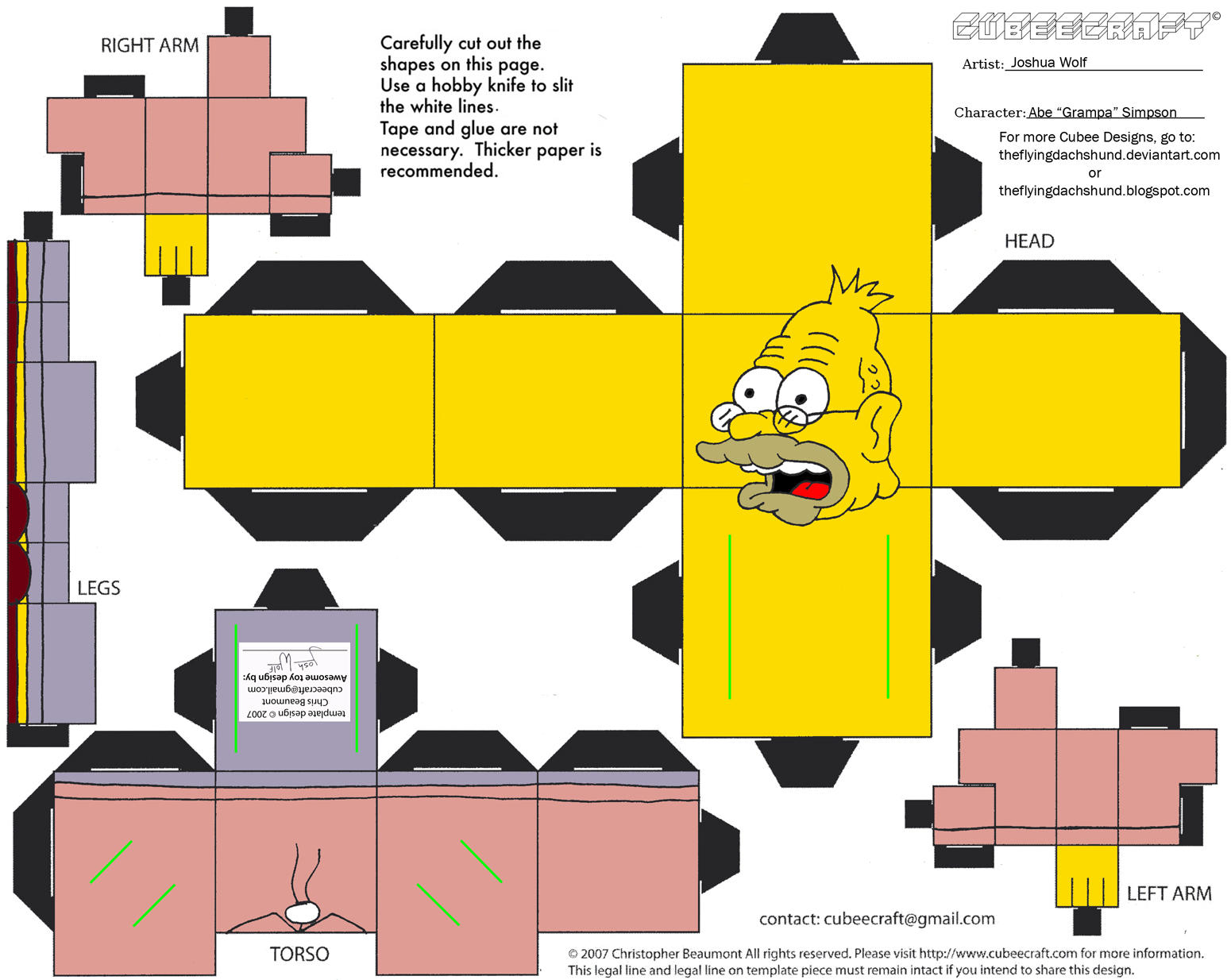 )Simpsons2: Abe Simpson Cubee by TheFlyingDachshund