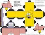 )Simpsons2: Abe Simpson Cubee