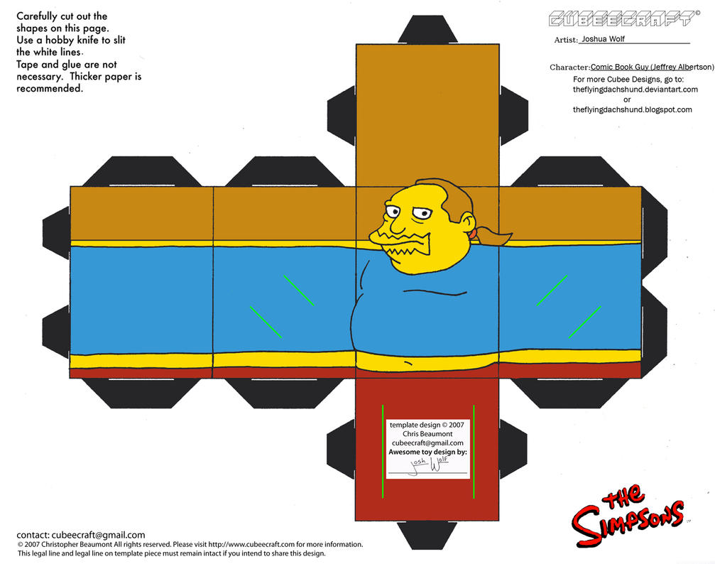 Simpsons2: Comic Book Guy Cubee by TheFlyingDachshund