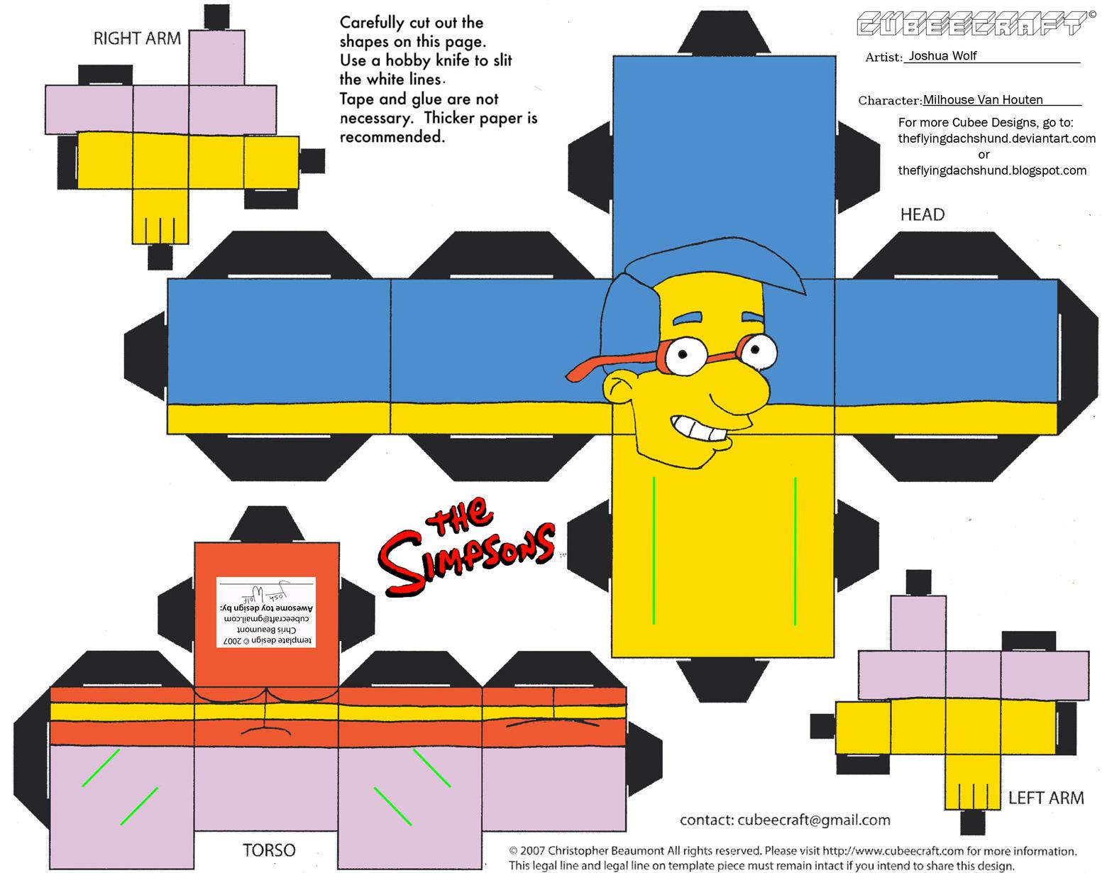 Simpsons2: Milhouse Van Houten Cubee by TheFlyingDachshund