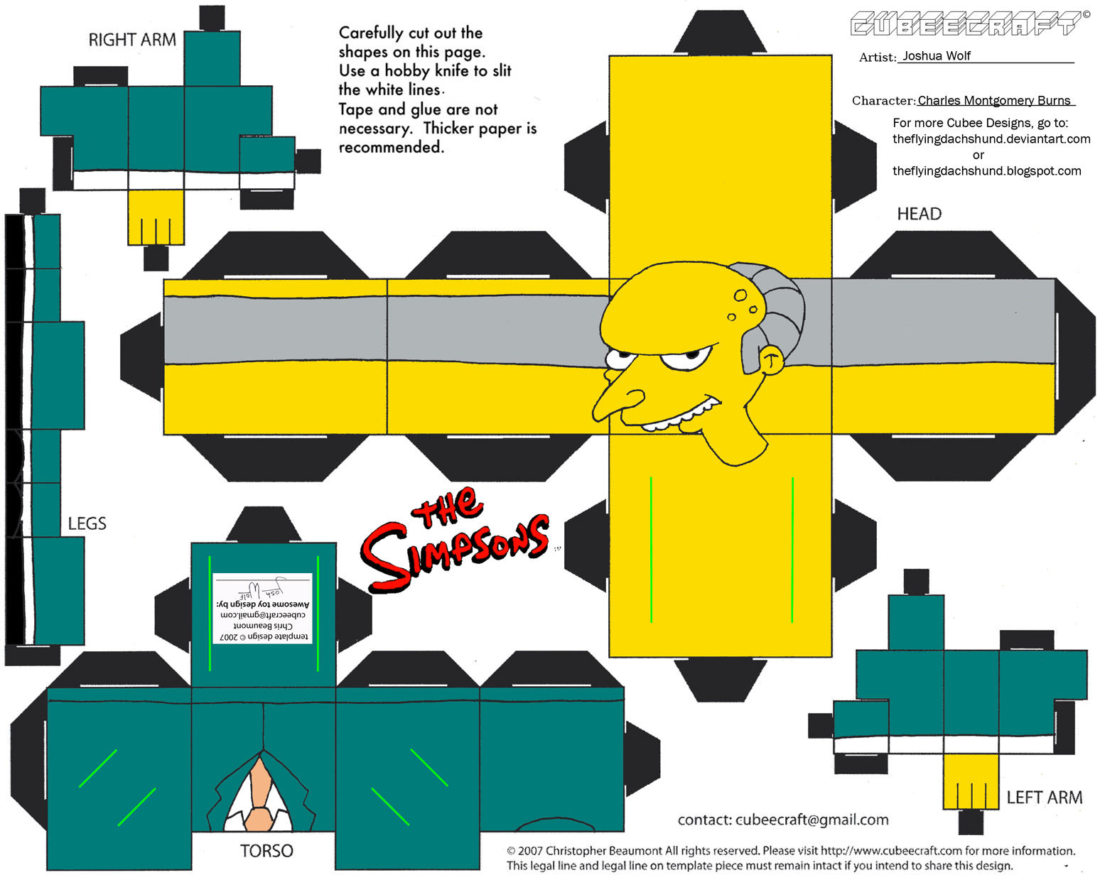 Simpsons3: Charles Montgomery Burns Cubee by TheFlyingDachshund