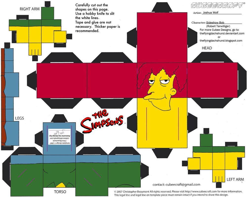 Simpsons3: Sideshow Bob Cubee by TheFlyingDachshund