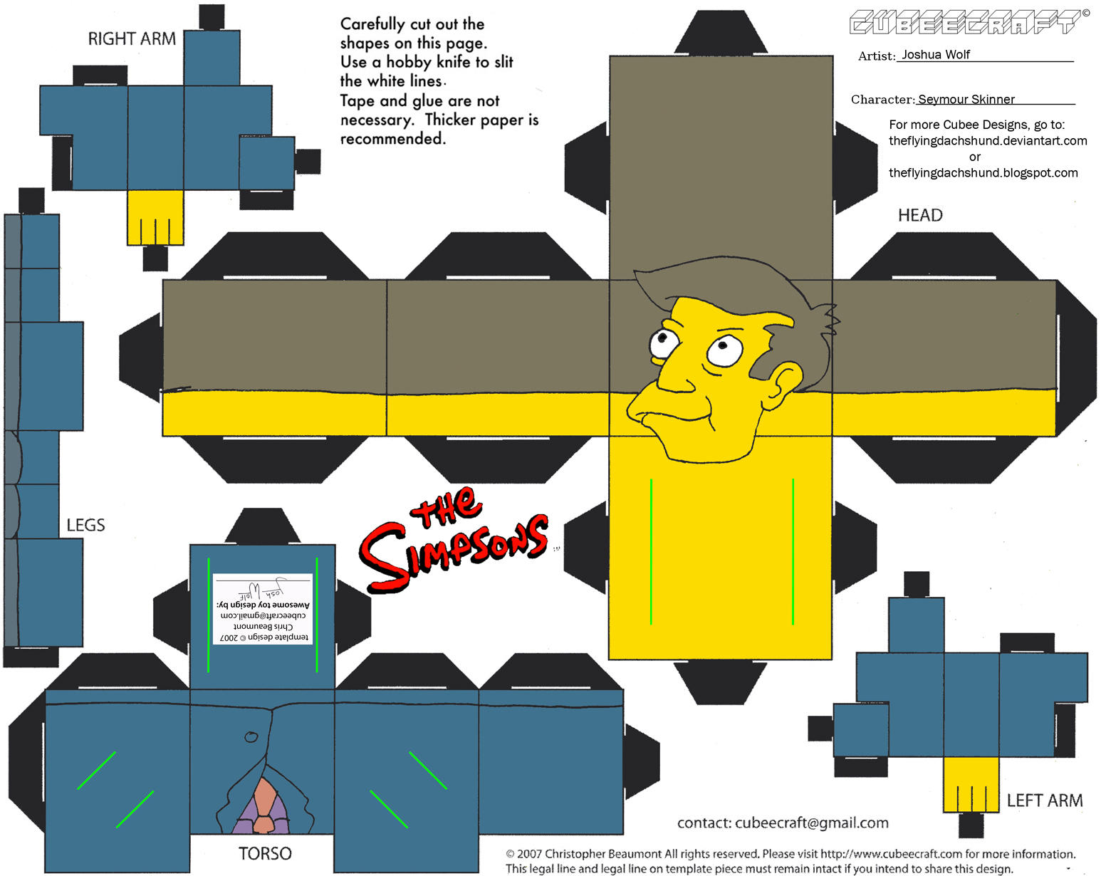 Simpsons3: Seymour Skinner Cubee by TheFlyingDachshund
