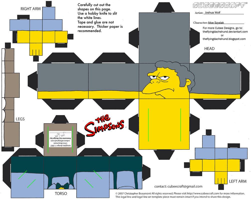 Simpsons4: Moe Szyslak Cubee by TheFlyingDachshund