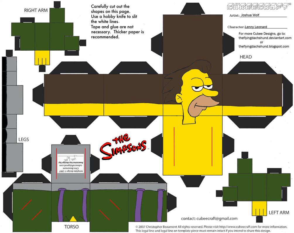Simpsons4: Lenny Leonard Cubee by TheFlyingDachshund