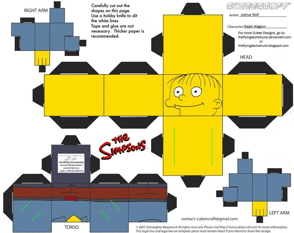 Simpsons4: Ralph Wiggum Cubee by TheFlyingDachshund