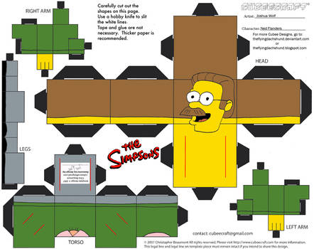 Simpsons5: Ned Flanders Cubee