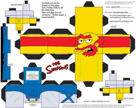 Simpsons5: Groundskeeper Willie Cubee