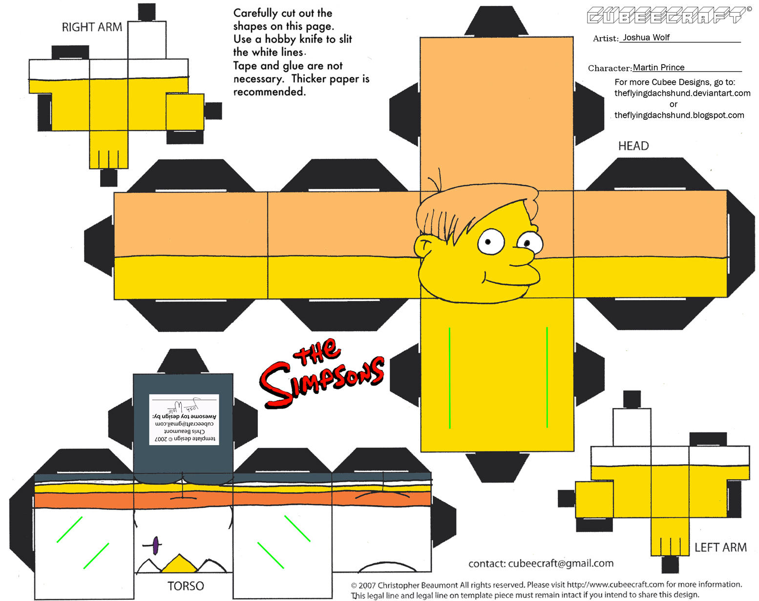 Simpsons5: Martin Prince Cubee by TheFlyingDachshund