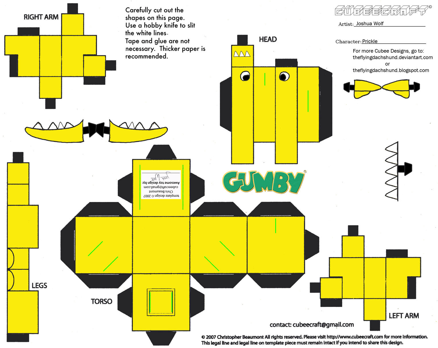 Gumby: Prickle Cubee by TheFlyingDachshund on DeviantArt