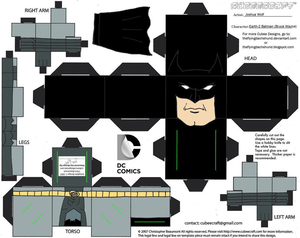 DCNU23 Earth 2 Batman Cubee By TheFlyingDachshund