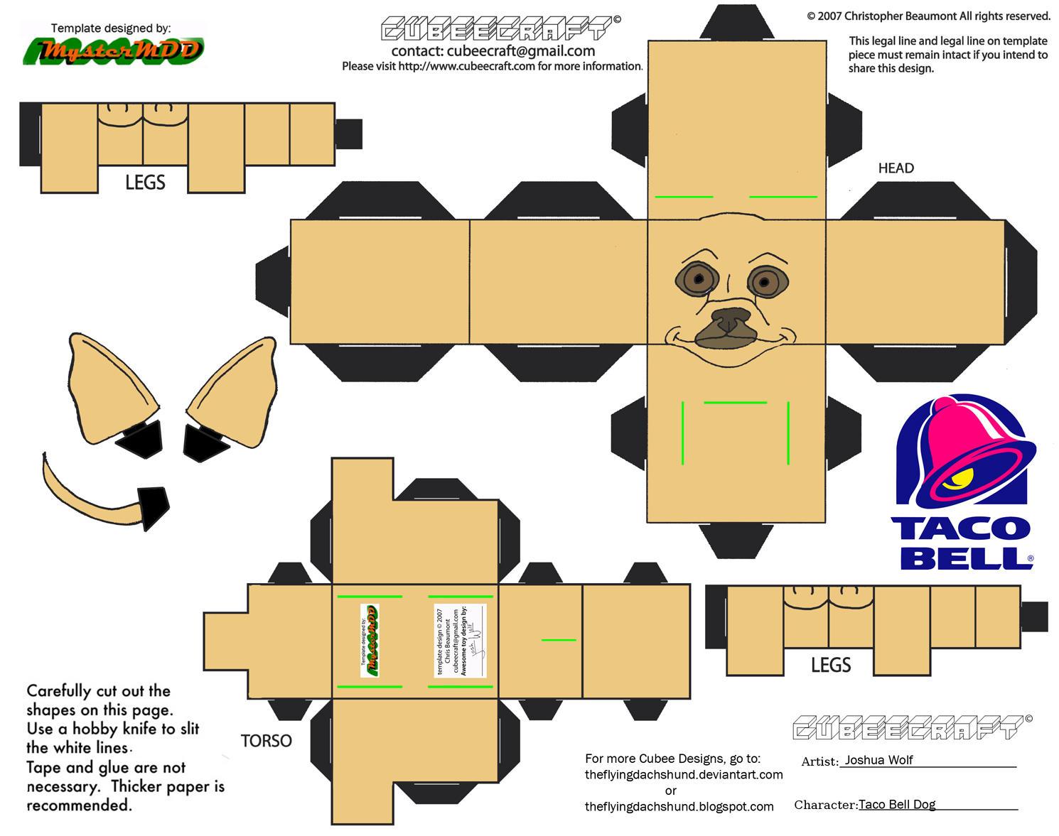 ADV CH19: Taco Bell Dog Cubee by TheFlyingDachshund on DeviantArt