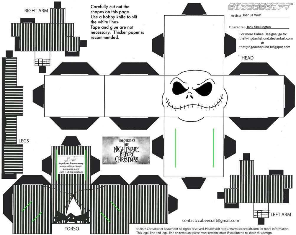 Xmas9: Jack Skellington Cubee by TheFlyingDachshund