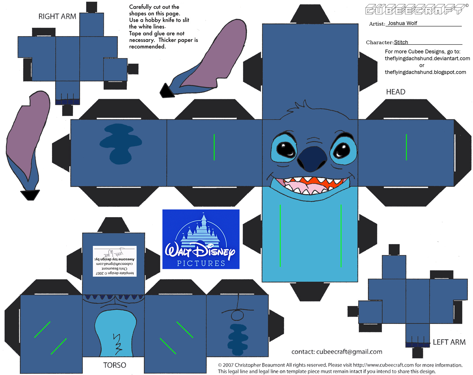 Dis8 stitch cubee by theflyingdachshund on deviantart for Lilo and stitch arts and crafts
