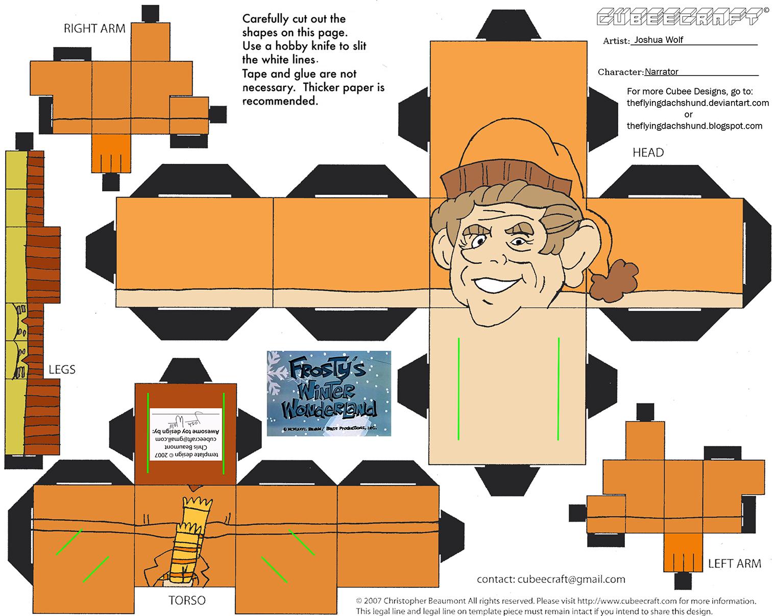 XMas12: Narrator 2 Cubee by TheFlyingDachshund