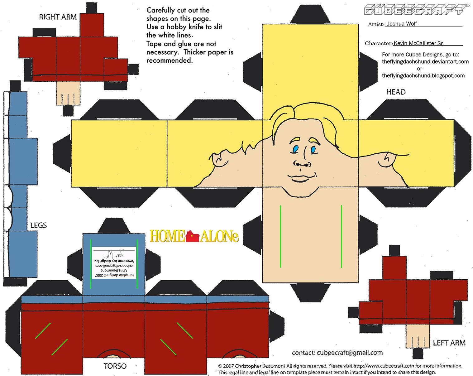 XMas12: Kevin McCallister Sr Cubee by TheFlyingDachshund