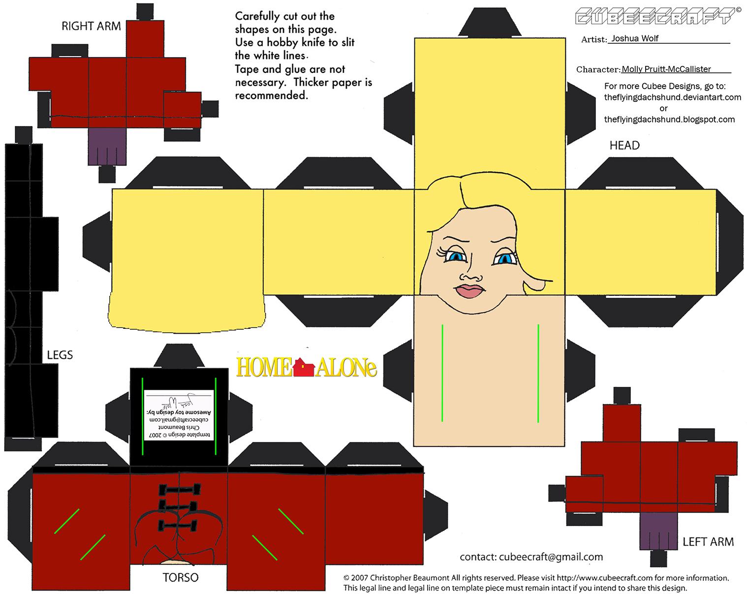 XMas12: Molly Pruitt-McCallister Cubee by TheFlyingDachshund