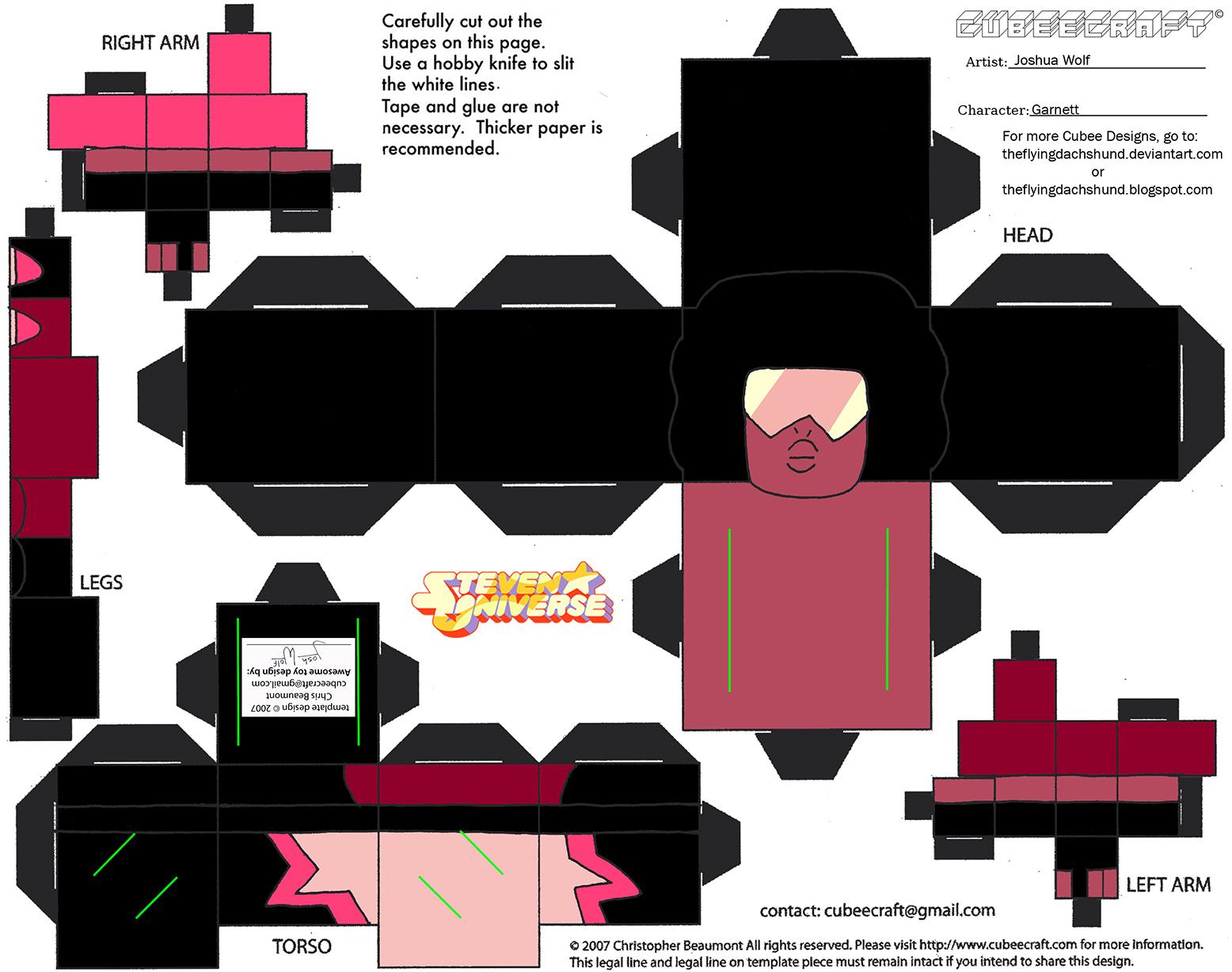 CE8: Garnet Cubee by TheFlyingDachshund on DeviantArt