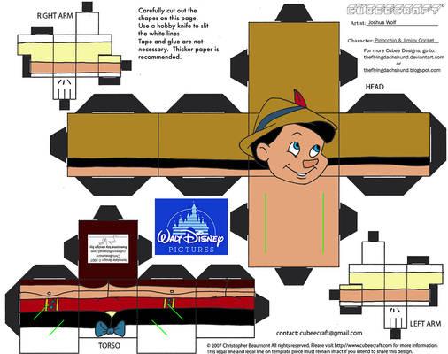 Dis46: Pinocchio and Jiminy Cricket Cubees