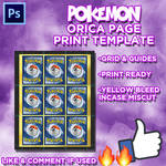 A4 Page Orica Print Template Pokemon Cards PSD by ver2ion