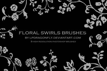 floral swirls brushes by ivadesign