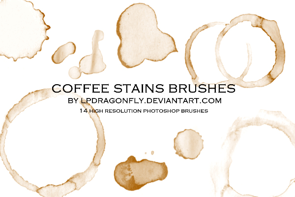 coffee stains brushes